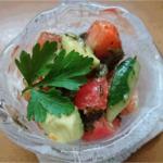 サッとお手軽 さっぱりヘルシーなアカモクのサラダマリネ 『アカモクとアボカド・トマト・キュウリのマリネ』 Fujishima's recipe