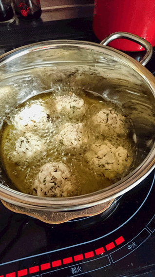 アカモクと豆腐とツナと落とし揚げ 揚げ