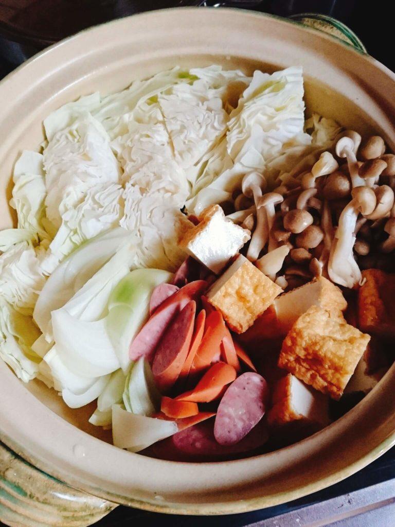 鍋野菜ウインナー
