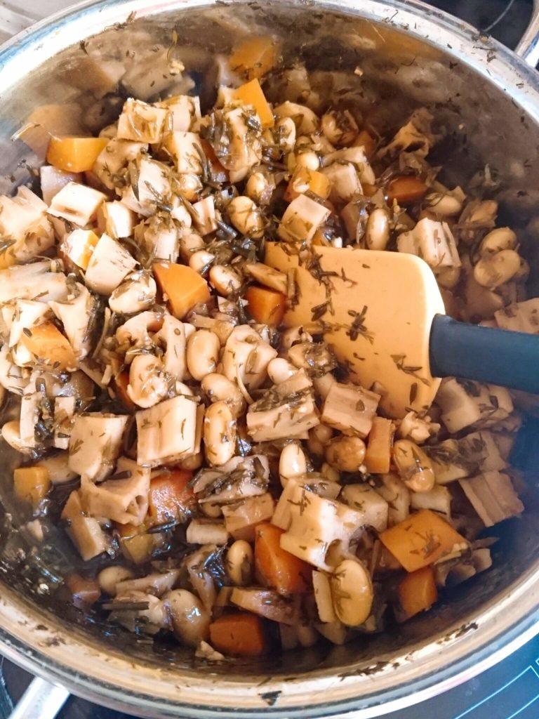 大豆レンコンアカモク煮 混ぜる