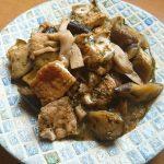 茄子と厚揚げのピリ辛アカモク味噌炒め煮 ~旬のお野菜を使った1品です~